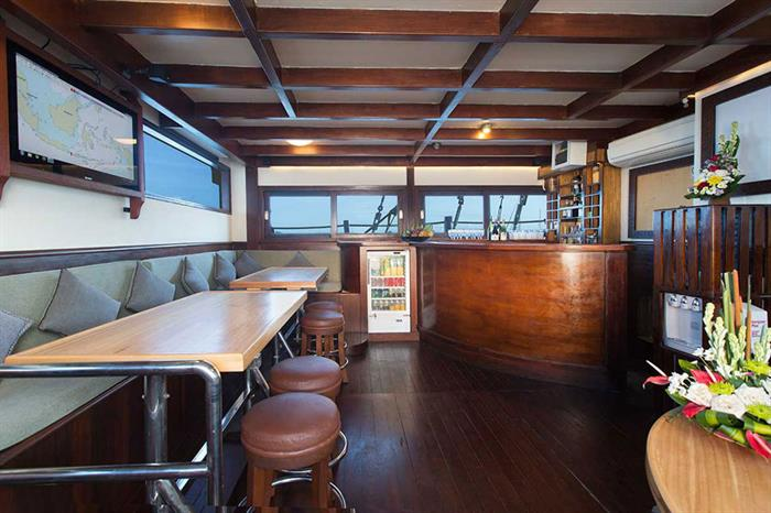 Salon area onboard Katharina Liveaboard