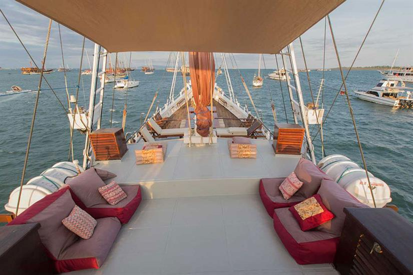 Enjoy the views from the sun deck - Katharina Liveaboard