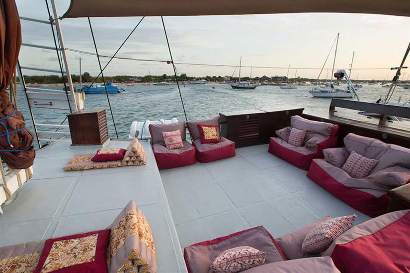 Relaxation areas onboard - Katharina Liveaboard