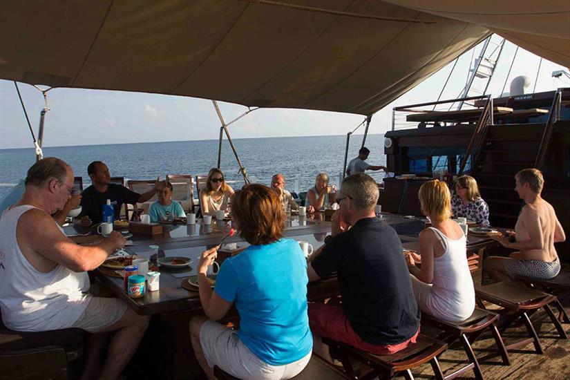 Enjoy all meals served onboard