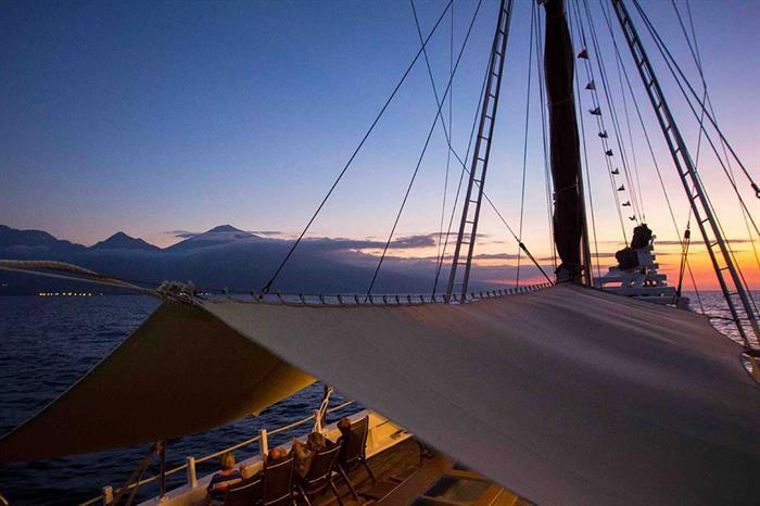 Sunset onboard Katharina Liveaboard