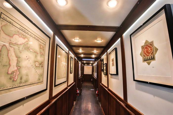 Lower deck cabins corridor - Ombak Putih