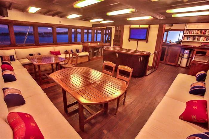 Lounge/Dining area onboard - Ombak Putih