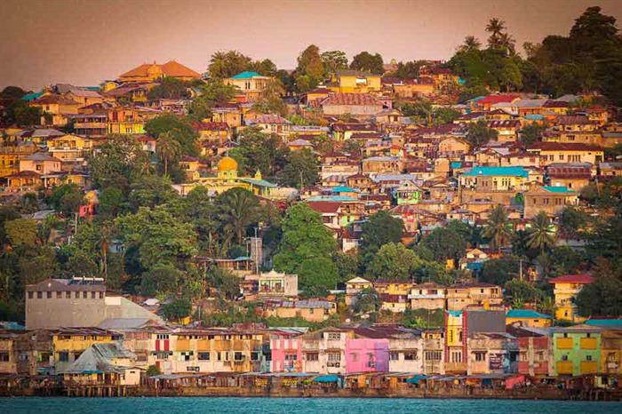 Colourful local villages and settlements Indonesia