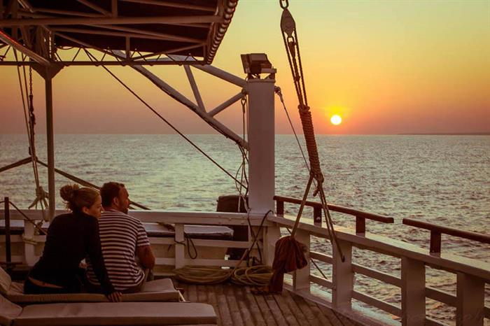Space onboard Ombak Putih to enjoy the scenery