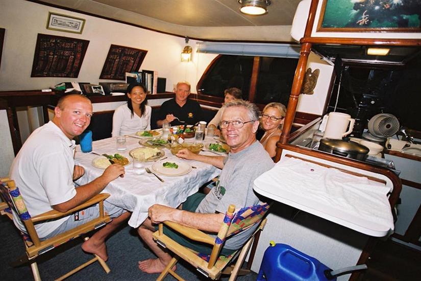 Food & drinks onboard Ocean Hunter 1
