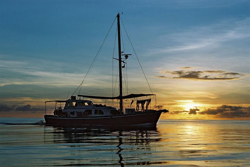 Amazing sunsets in Palau onboard Ocean Hunter 1