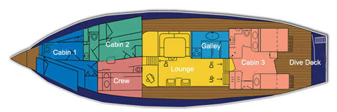 Ocean Hunter 1 Deck Plan floorplan