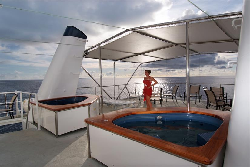 Great views from the sun deck, with Jacuzzi/Hot Tub