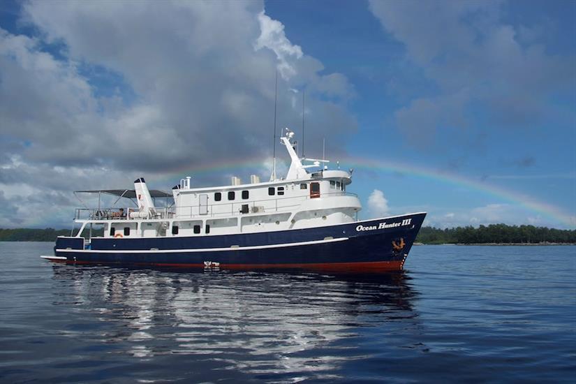Ocean Hunter 3 at sea in Palau