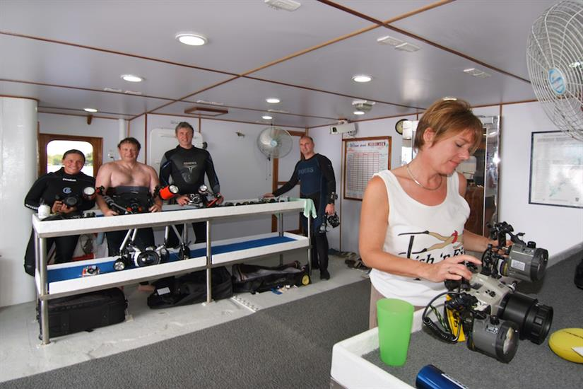 Lots of space for photography equipment - Ocean Hunter 3