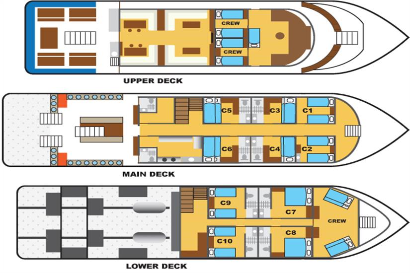 Black Manta Deck Plan