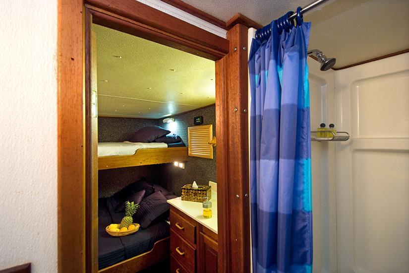 En-suite bathroom in Deluxe Stateroom - Atlantis Azores