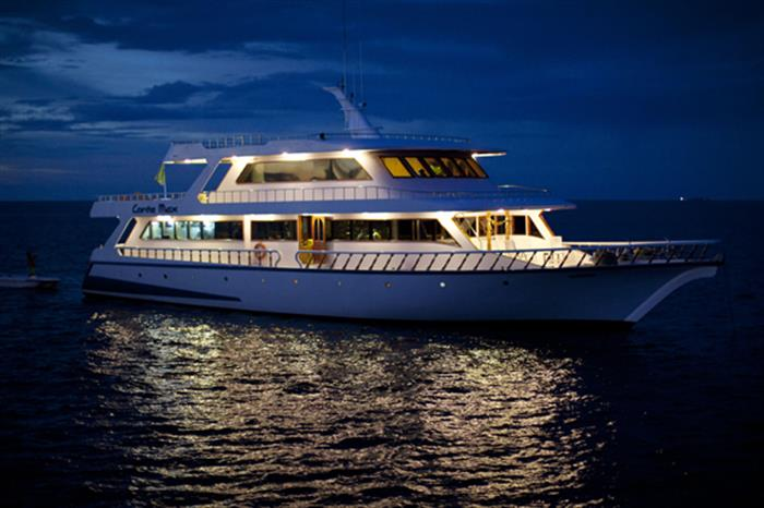 Conte Max liveaboard at night