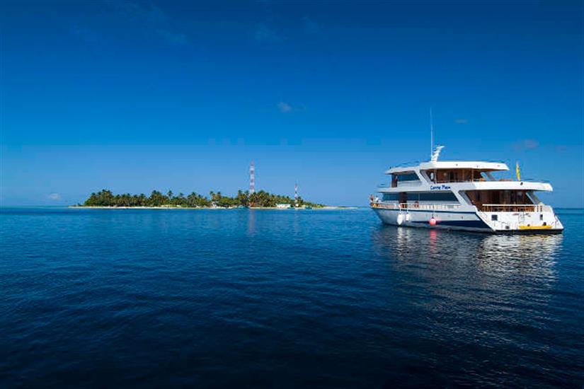 Conte Max in the beautiful Maldives