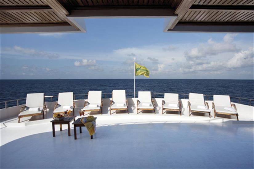 Sun deck area - Conte Max liveaboard