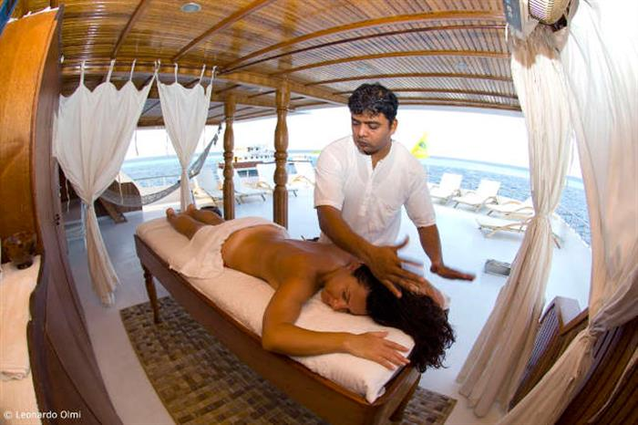 On-board ayurvedic spa - Conte Max liveaboard