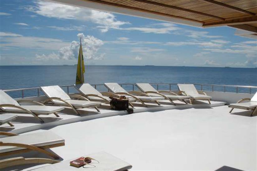 Sun deck area onboard Conte Max