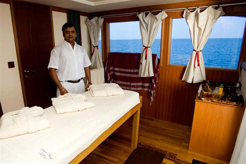 Onboard Spa treatments available - Duke of York Liveaboard