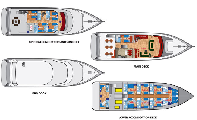 Duke of York Deck Plan floorplan
