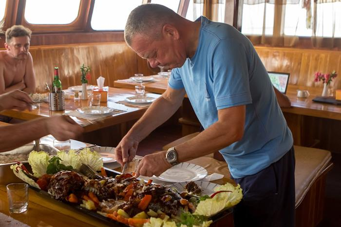 Enjoy prepared meals after a day of diving