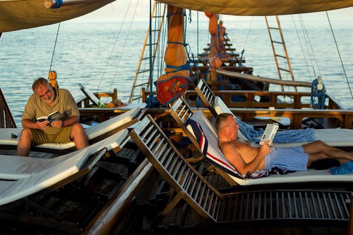 Relaxing sun deck area - Euphoria Liveaboard