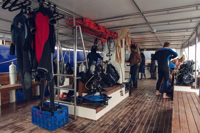 Scubaspa Ying Liveaboard Dive Deck