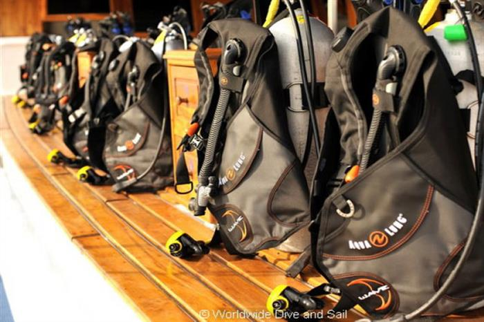 Free Equipment Rental aboard the Palau Siren Liveaboard
