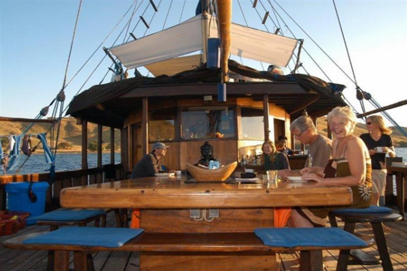 Enjoy the deck area onboard Moana Liveaboard