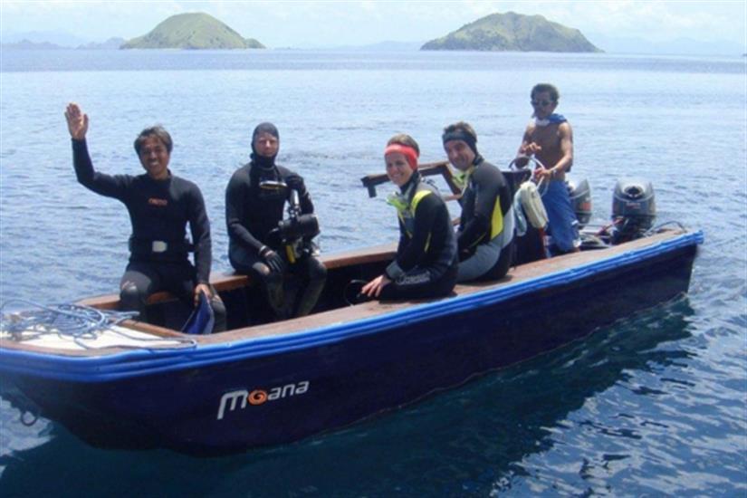 Dive tender onboard Moana Liveaboard
