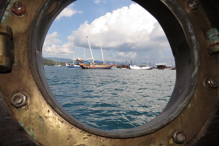 View from the cabin porthole - Moana Indonesia