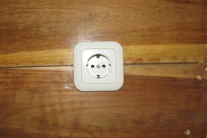 Wall sockets in the rooms of Moana