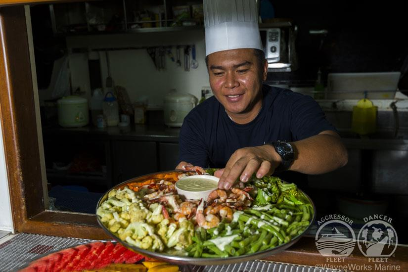 Dinner aboard the Raja Ampat Aggressor