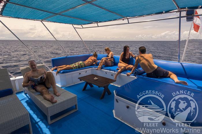 Sundeck aboard the Raja Ampat Aggressor Liveaboard