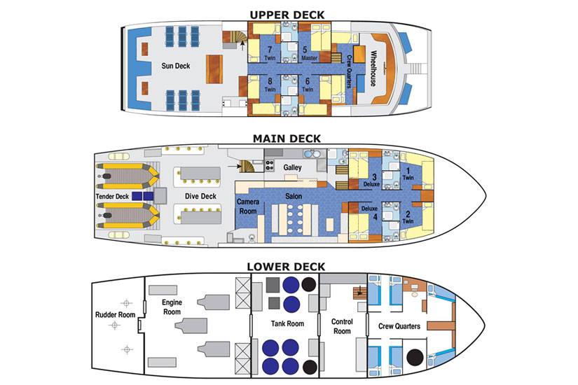 Raja Ampat Aggressor layout floorplan