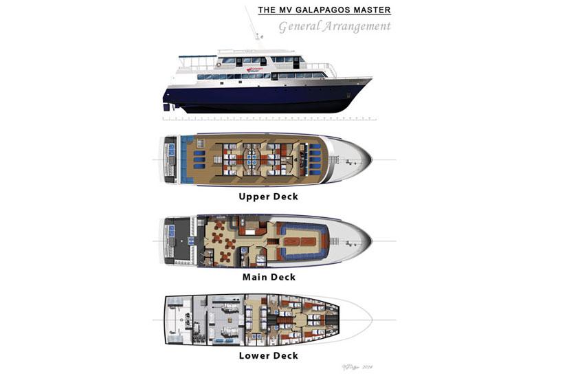 Galapagos Master Deckplan floorplan