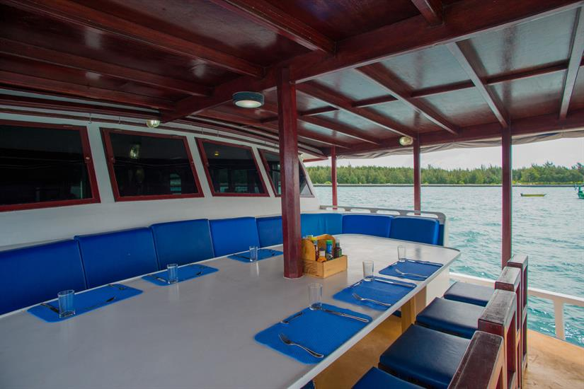 Outdoor Dining - Emperor Atoll Liveaboard Maldives