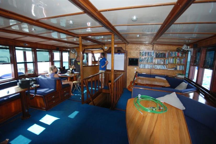Indoor Lounge - Emperor Atoll Liveaboard Maldives