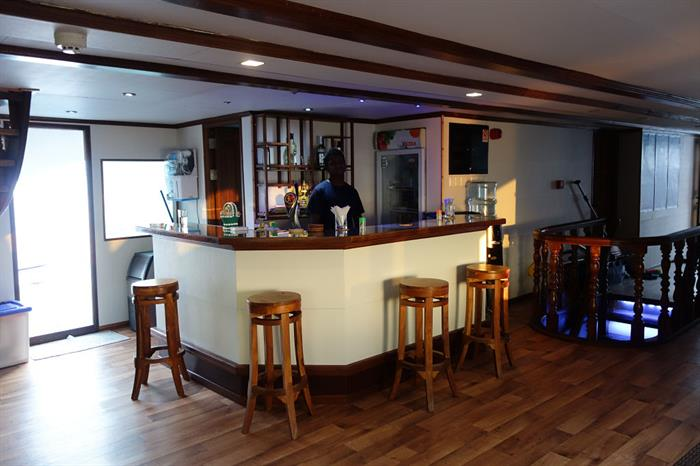 Bar aboard the Emperor Voyager Liveaboard