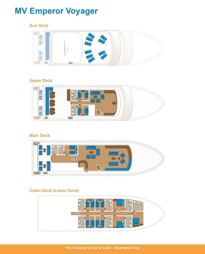 Emperor Voyager Deck Plan floorplan