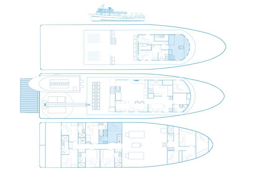 Undersea Hunter Liveaboard Deck Plan