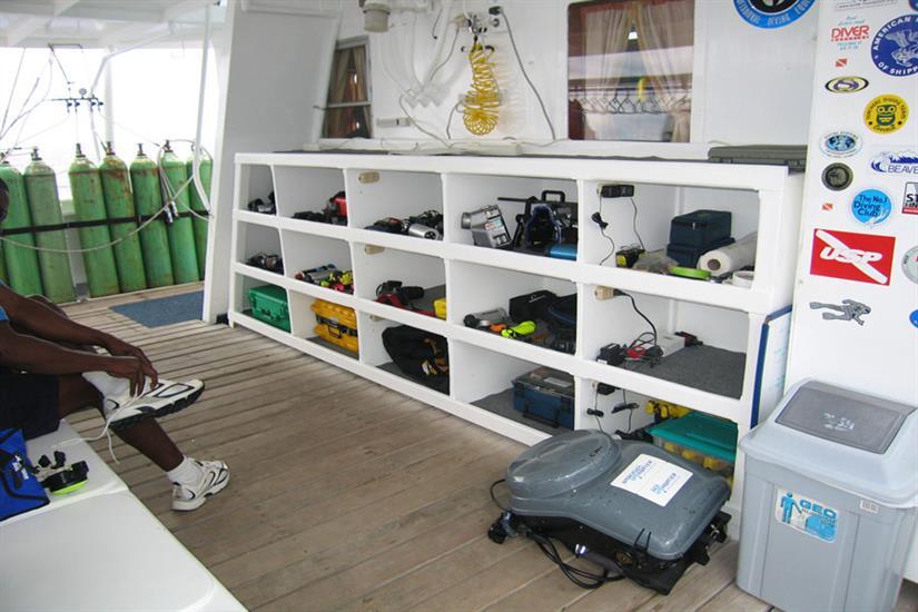 Undersea Hunter Liveaboard Camera Storage