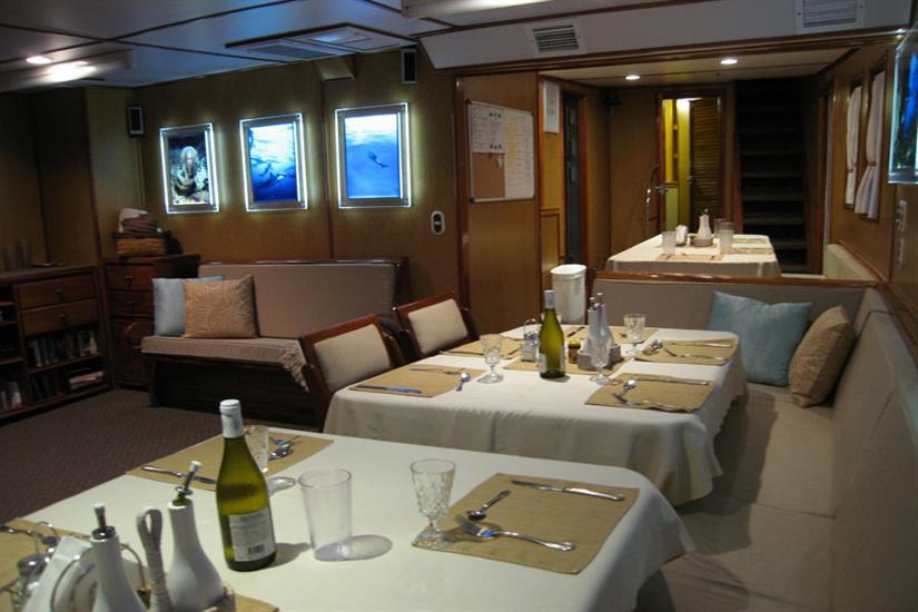 Undersea Hunter Liveaboard Dining Room