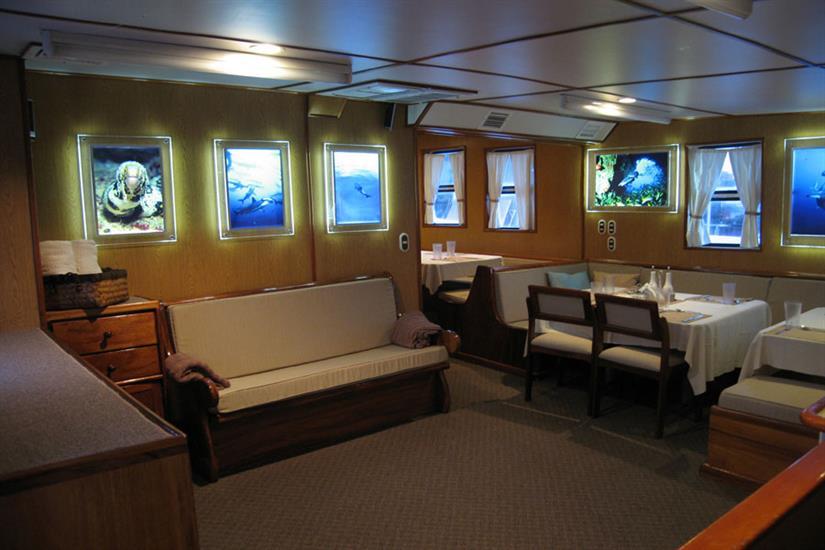 Dining area aboard Undersea Hunter Liveaboard