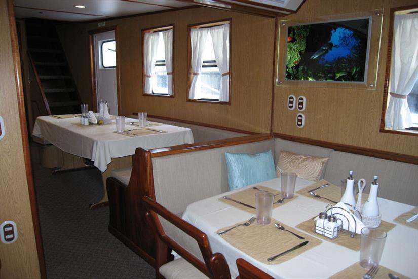 Undersea Hunter Liveaboard Dining Area