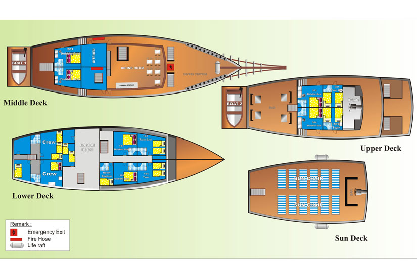 Sea Safari VI floorplan