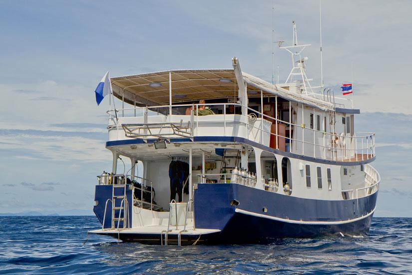 Rear dive platform on Giamani Liveaboard