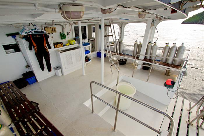 Dive area on Giamani Liveaboard