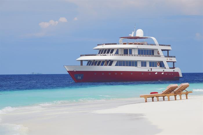 MV Theia in beautiful Maldives