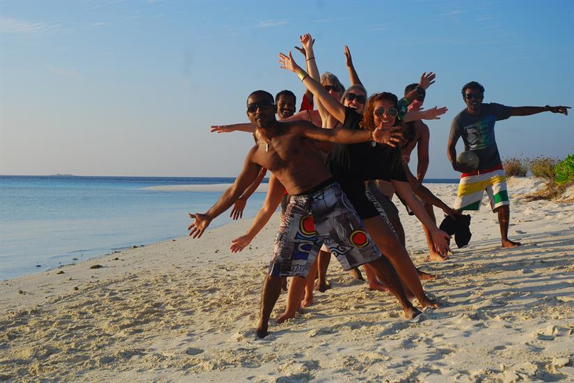 Beach excursions in the Maldives